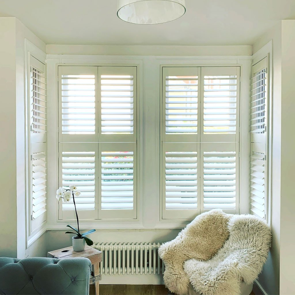 Shutters help control light and heat.
