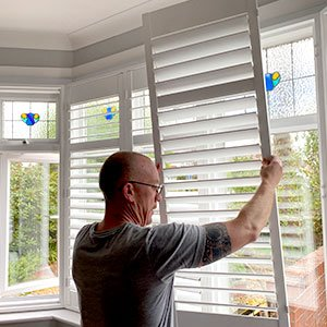 Window Shutter installation. Extremely tidy, professional service. Secure and Covid Safe.